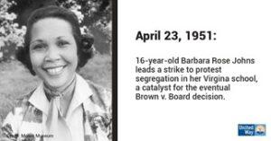 Black History Month- Barbara Rose Johns